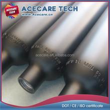 DOT 3AL/CE certificate, High standard aluminum gas cylinder, 360cc, 500cc 3000psi aluminum gas