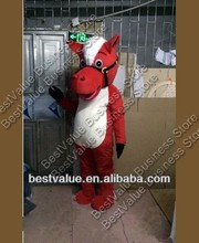 red horse 2014 Christmas hot sale Horse Costume Mascot Party Fancy Dress