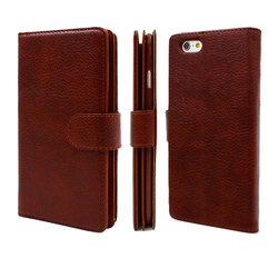 High Quality Lichee Leather Cell Phone Case Wallet Case For iphone6S