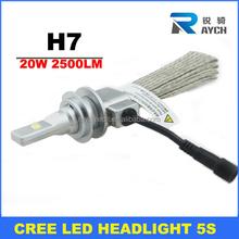 The brightest most high grade headlight 20W 2500LM car high power led headlamp