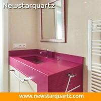 Pink laminate countertops for bathroom