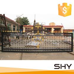 Wrought iron gate modern design,iron main gate designs for home