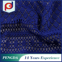Wholesale fabric supplier Best selling Flower Knitted polyester lace fabric
