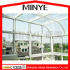 Arc shaped hollow glass aluminum profile sun house