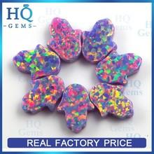 11*13mm Hand Shape opal black Hole Synthetc hamsa Opal