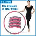 Venta caliente nuevo hecho en china ponderado hula hoop, desmontable de la aptitud del aro del hula, magnética de la espuma