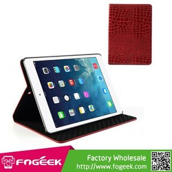 Fast Shipping for iPad Air Crocodile Flip Leather Stand Case