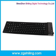 Hotsale Silicone bluetooth keyboard , Wireless Keyboard Support for Windows/IPAD Android System