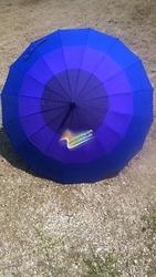 3 Colors Combination 16 Ribs Automatic Long Umbrella