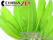 Factory Wholesale in Stock Dyed LIME GREEN Goose Satinettes Loose Feathers