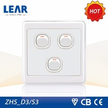 Top quality Rainbow series 3 gang led light switch plate