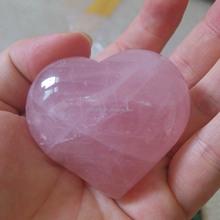 Handmade polished gemstone love heart shaped lucky stone crafts