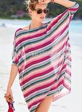 Phayon 100% vogue de poliéster pareo sarones, mujeres gasa caftán playa
