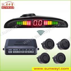 For truck/bus/trailer/pickup/van/sedan LCD LED wireless car parking sensor