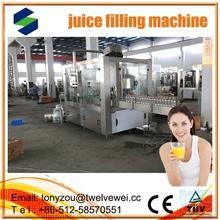 Totalmente automático frutas / bebida suco de linha de produção para PET garrafa automático 3 in1 juce máquina de enchimento