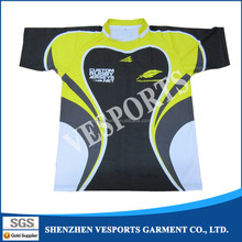 Sublimation OEM rugby team practice jersey
