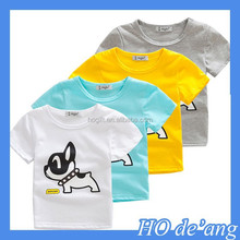 HOGIFT Cotton cartoon children's t-shirt / cheaper kinds t-shirt / new design children's brand t-shirt