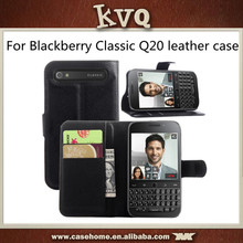 Mobile Cases PU Leather Wallet Flip Case Cover For Blackberry Classic Q20