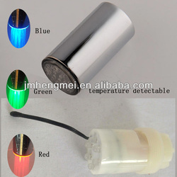 Favorites Compare Temperature Detectable 3-Color (Green / Blue / Red) LED Shower Head No Battery