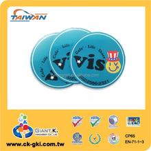 Promotional Taiwan shape custom round fridge magnet