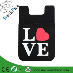 3M Sticker Silicone Phone Wallet /Silicone Back Phone Pouch /Silicone Smart Wallet
