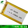 Hot sale 3.7v 1100mAh li-po 384169 digital photo frame new lithium ion batteries