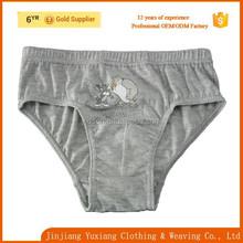 newest style cute cartoon print boy panties/grey cotton boy cut panties wholesale