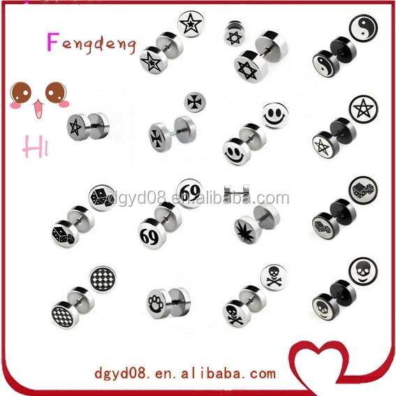 stainless steel body piercing jewelry custom designs stud