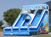 Custom-made dolphin inflatable slide for kids