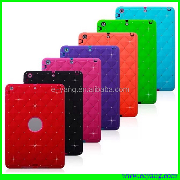 pc+silicone hybrid diamond shockproof robot case for ipad mini 2