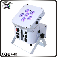 Built in battery 6x6in1 RGBWA UV wireless pin spot light
