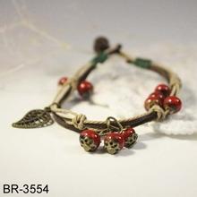 National wind retro ceramic glaze bracelets women bracelet fashionable