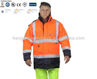 300D PU Coated Cotton Padded Winter Reflective Motorcycle Jacket