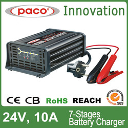 Electrical car battery charge with battery charge indicator MBC2410