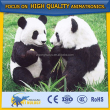 High Quality Simulated Fiberglass Animal Statue Panda Bear Model