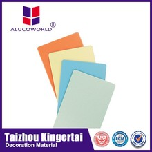 Alucoworld colorful design pvdf weather aluminum window cladding sheet acp walls panels for indoor/outdoor usage