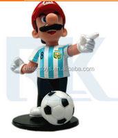 custom 3D plastic super mario action figure toy, mini super mario model toy