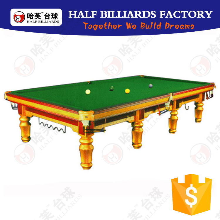 Half billiards 12 years factory only for billiard pool for 12ft snooker table for sale