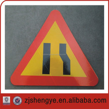 informative reflective aluminum triangle road sign