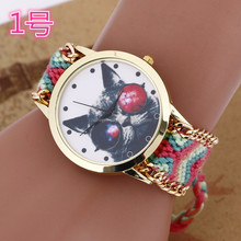 Latest bracelet watch with weave band/lady wrist watches for women BWL024