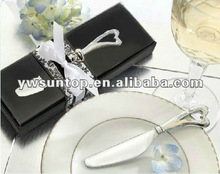 """""""Spread the Love """" Wedding Favors Heart Shaped Handle Butter Knife Spreader"""