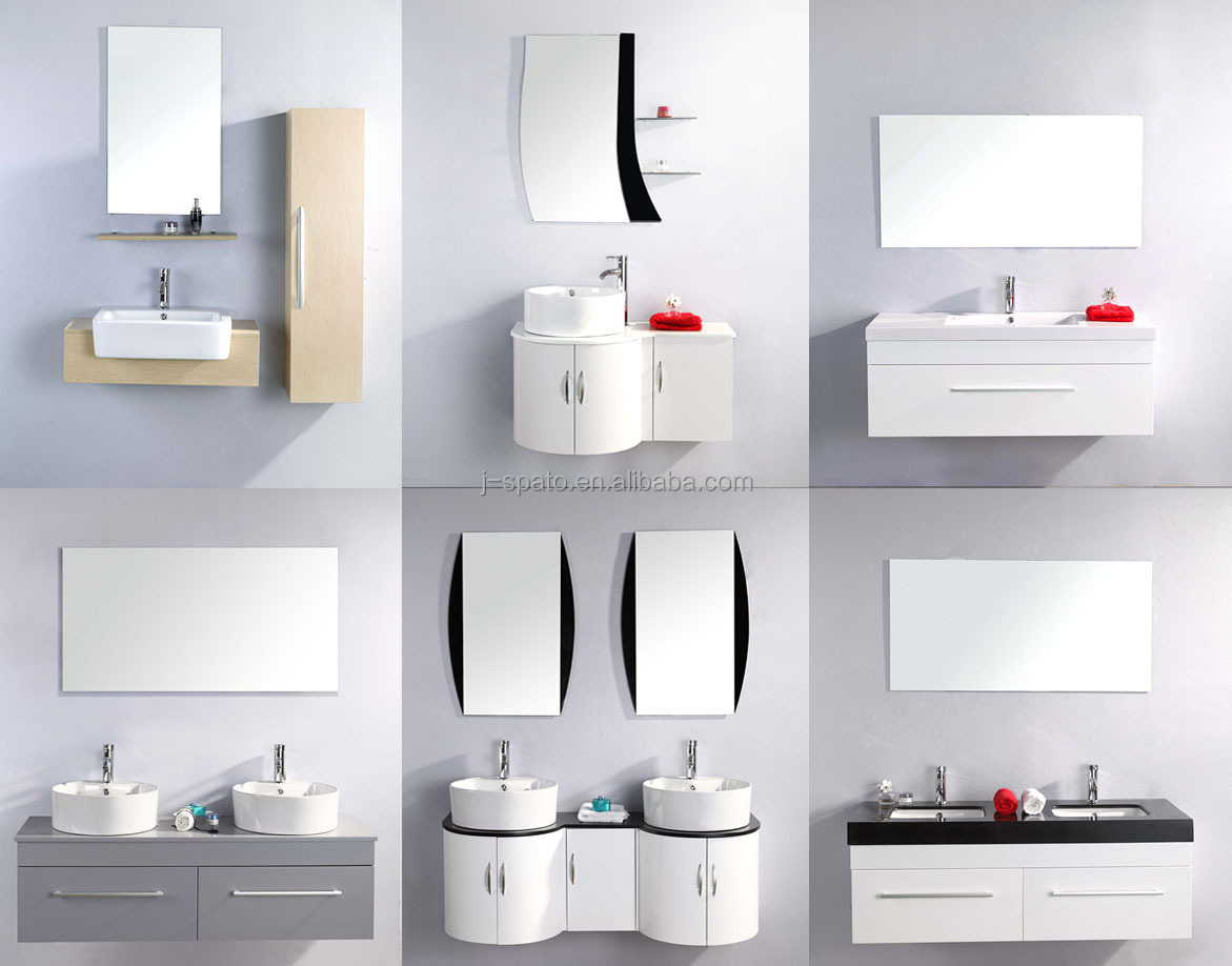 Wholesale Bathroom Plastic Vanity Cabinet In Modern White