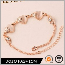Statement necklace 2015 heart shaped natural stone necklace rose gold necklace 2015