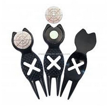 G-DT 9424 wholesale custom European Style golf+divot+tool+ball+marker+logo+golf+equipment