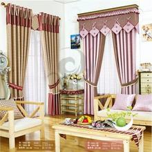 280cm width 100% polyester luxury ready made austrian grommet window curtains
