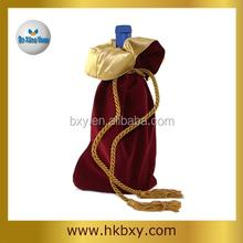 Velvet Wine Pouches Drawstring Packaging Bag