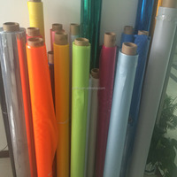2015 Good Sale PVC Plastic Colorful Cloth Grain Wrapping Film in Rolls
