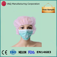 Hospital use 3 ply PP nonwoven dentist face mask with ties