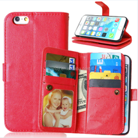 New products 9 card slots money wallet leather Case For iphone 6 6s