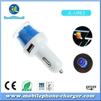Rose Flower Car Charger Double USB Port DC5V 2.1A Car Charger Adapter